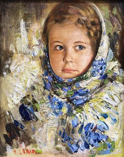 Capricious Girl 2017 25x22 Original Painting by Vladimir Mukhin