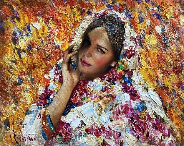 Golden Autumn 2017 24x30 Original Painting by Vladimir Mukhin