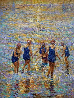 Sea Nymphs 2017 30x24 Original Painting - Vladimir Mukhin