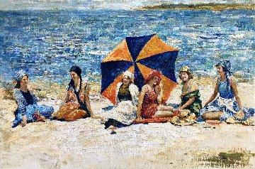 Carmel Beach 2018 24x36 California Original Painting by Vladimir Mukhin