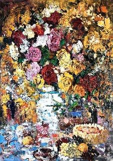 Happy Birthday 2011 54x38 Original Painting - Vladimir Mukhin