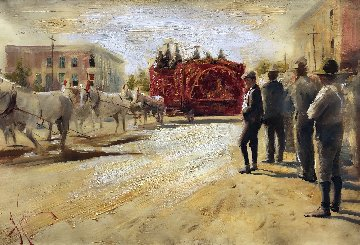 Circus Has Arrived 2009 18x26 Original Painting by Vladimir Mukhin