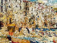 Sicily, Cefalu 2016 38x46 Super Huge Original Painting by Vladimir Mukhin - 5