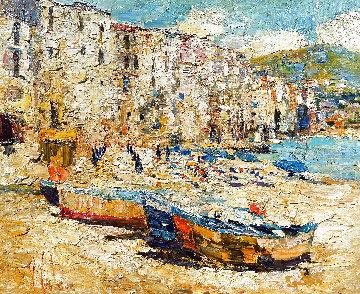 Sicily, Cefalu 2016 38x46 Huge Original Painting - Vladimir Mukhin