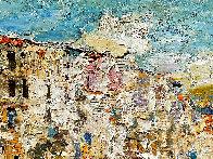 Sicily, Cefalu 2016 38x46 Super Huge Original Painting by Vladimir Mukhin - 1