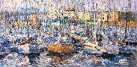 Cannes, Boats 2016 34x70 Super Huge Original Painting by Vladimir Mukhin - 1