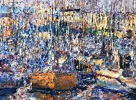 Cannes, Boats 2016 34x70 Super Huge Original Painting by Vladimir Mukhin - 3