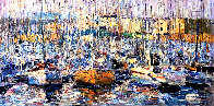 Cannes, Boats 2016 34x70 Super Huge Original Painting by Vladimir Mukhin - 0