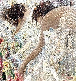 Boudoir  2013 34x32 Original Painting by Vladimir Mukhin