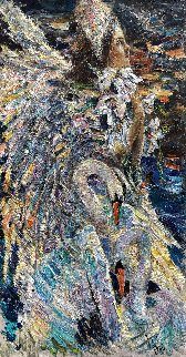 Swan Princess 2016 71x36 Original Painting - Vladimir Mukhin