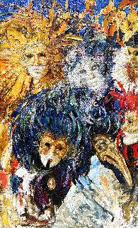 Masquerade 2019 55x35 Huge Original Painting - Vladimir Mukhin