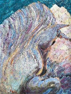 Unicorn 2008 35x28 Original Painting by Vladimir Mukhin