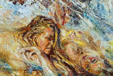 Caressing Waves 2019 51x79 Original Painting - Vladimir Mukhin