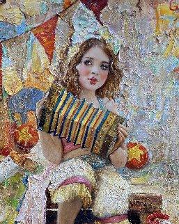 Clowness 2019 60x46 Original Painting by Vladimir Mukhin