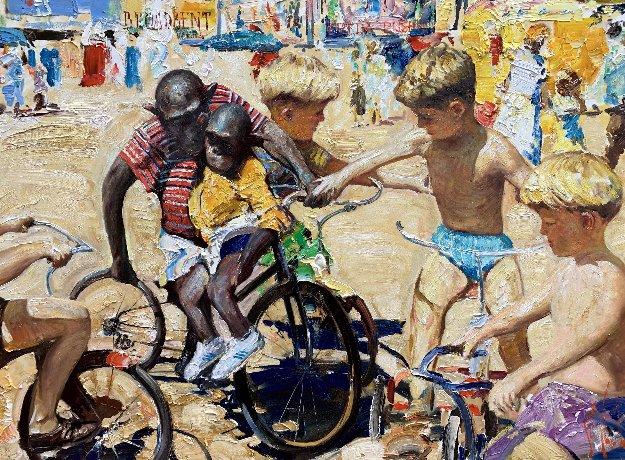 Circus Childhood 2019 42x80 Original Painting by Vladimir Mukhin