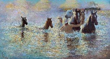 Purple Haze 2019 42x78 Original Painting by Vladimir Mukhin