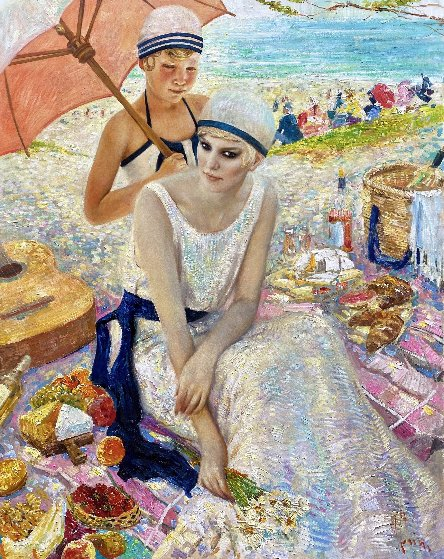 Picnic 2019 60x48 Original Painting by Vladimir Mukhin