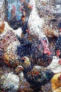 Poultry Yard 2011 60x48 Super Huge Original Painting - Vladimir Mukhin