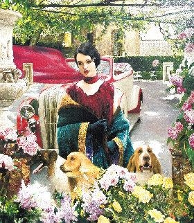Lady in Purple 2008 Limited Edition Print - Vladimir Mukhin