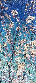 Cherry Blossom 2016 50x22 Huge Original Painting - Vladimir Mukhin