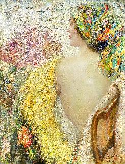 Desire 2021 34x26 Original Painting - Vladimir Mukhin