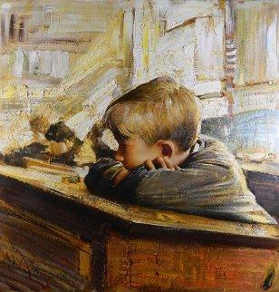 Boring Class 2009 31x31 Original Painting - Vladimir Mukhin
