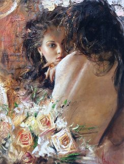 Boudoir 2013 35x28 Original Painting - Vladimir Mukhin