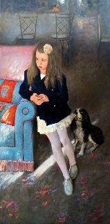Caprice 2014 71x35 Original Painting - Vladimir Mukhin