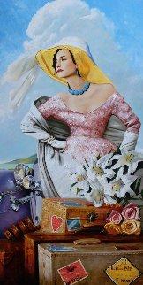 Concours De Elegance 2011 71x35 Original Painting - Vladimir Mukhin