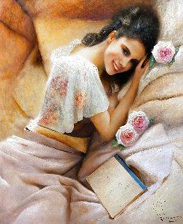 Minx 2015 40x34 Original Painting - Vladimir Mukhin