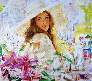 Sunny Day 2012 33x35 Original Painting - Vladimir Mukhin