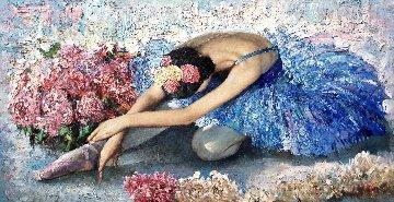 Swan Lake 2013 35x67  Original Painting - Vladimir Mukhin