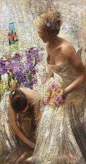 Wedding Day 2015 60x32 Huge Original Painting - Vladimir Mukhin