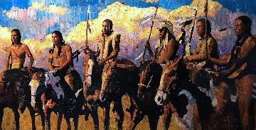 Watch 2009 34x66 Original Painting by Vladimir Mukhin