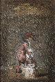 Untitled Painting 1998 22x17 Original Painting - Vachagan Narazyan