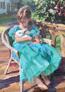 New Friendship 40x30 Huge Original Painting - Vladimir Volegov