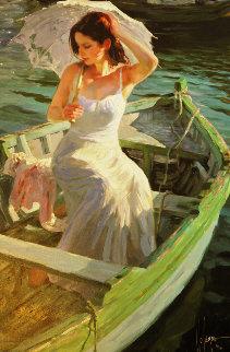Lake Side Reflections Embellished 2004 Limited Edition Print - Vladimir Volegov