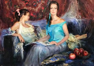 Cousins 2004 44x56 Original Painting - Vladimir Volegov