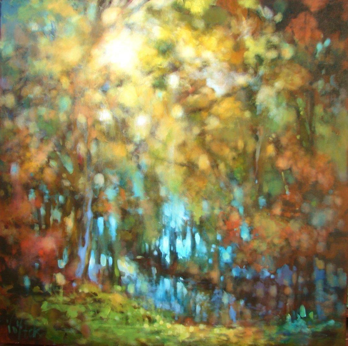 Fall Poem 2016 48x48 Super Huge Original Painting by  Voytek
