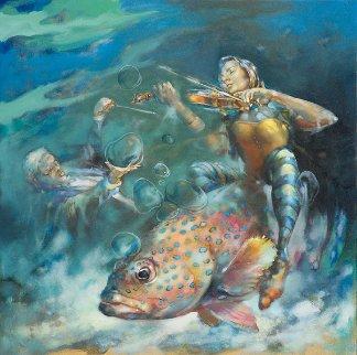Muted Symphony-Opus I 2015 36x36 Original Painting by  Voytek
