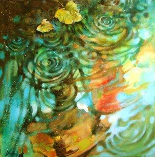 Rainy Lovers in Fall 2016 30x30 Original Painting by  Voytek