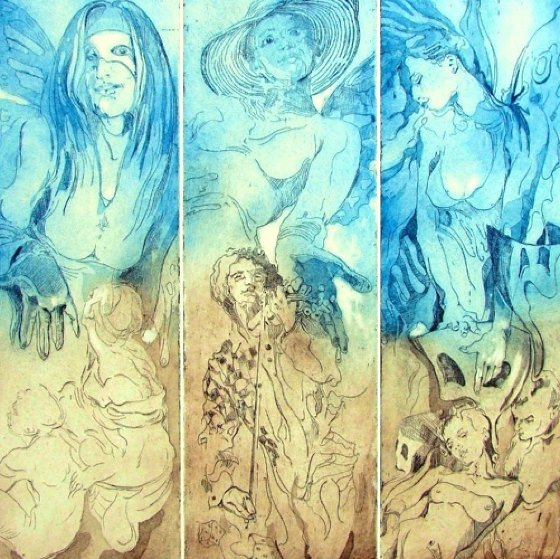 Three Muses 2013 Limited Edition Print by  Voytek