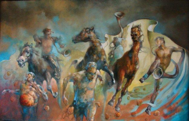 Farewell of Summer 2017 38x61 Original Painting by  Voytek