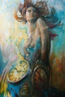 Time Whisperer 2017 48x34 Original Painting by  Voytek