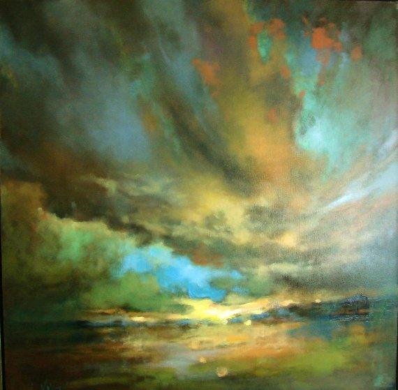 My Diary-thursday Sky 2017 48x48 Original Painting by  Voytek