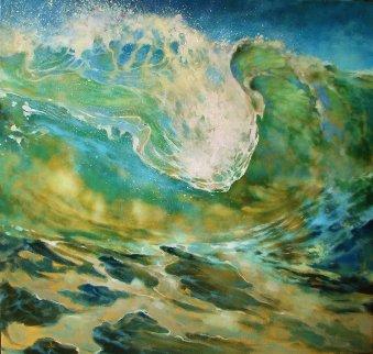 Collision With Light 2017 42x44 Super Huge Original Painting -  Voytek
