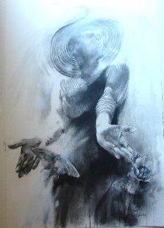 Four Seasons - Lady Spring 2018 44x31 Drawing -  Voytek