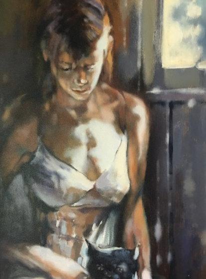 Morning Light 2007 42x22 Original Painting by  Voytek