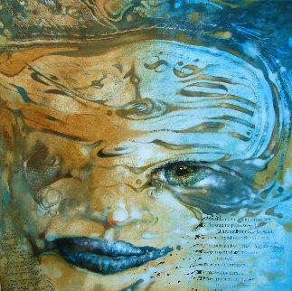 Hidden Behind the Mask 2017 40x40  Huge Original Painting -  Voytek