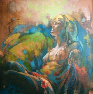 After Dark 2019 40x40 Original Painting by  Voytek